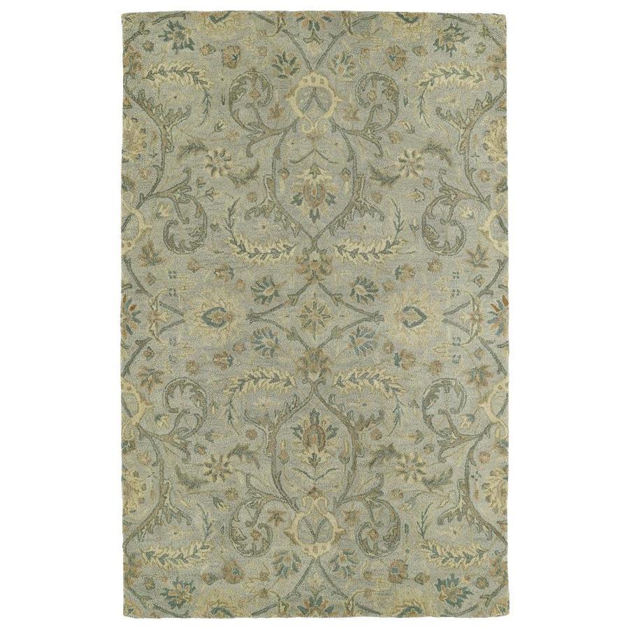 Kaleen Helena Silver Rectangular Indoor Handcrafted Oriental Area Rug (Common: 5 x 7; Actual: 5-ft W x 7.75-ft L)