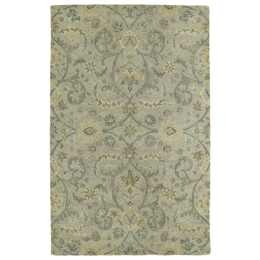 Kaleen Helena Silver Indoor Handcrafted Southwestern Area Rug (Common: 9 x 12; Actual: 9-ft W x 12-ft L)