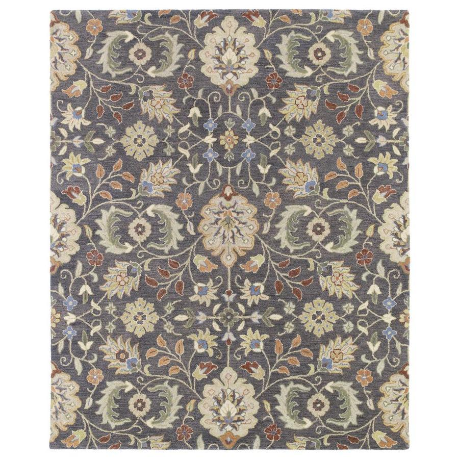 Kaleen Helena Pewter Rectangular Indoor Handcrafted Nature Area Rug (Common: 5 x 7; Actual: 5-ft W x 7.75-ft L)