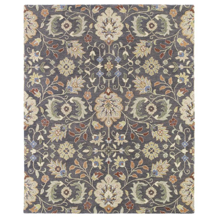 Kaleen Helena Pewter Indoor Handcrafted Oriental Area Rug (Common: 9 x 12; Actual: 9-ft W x 12-ft L)