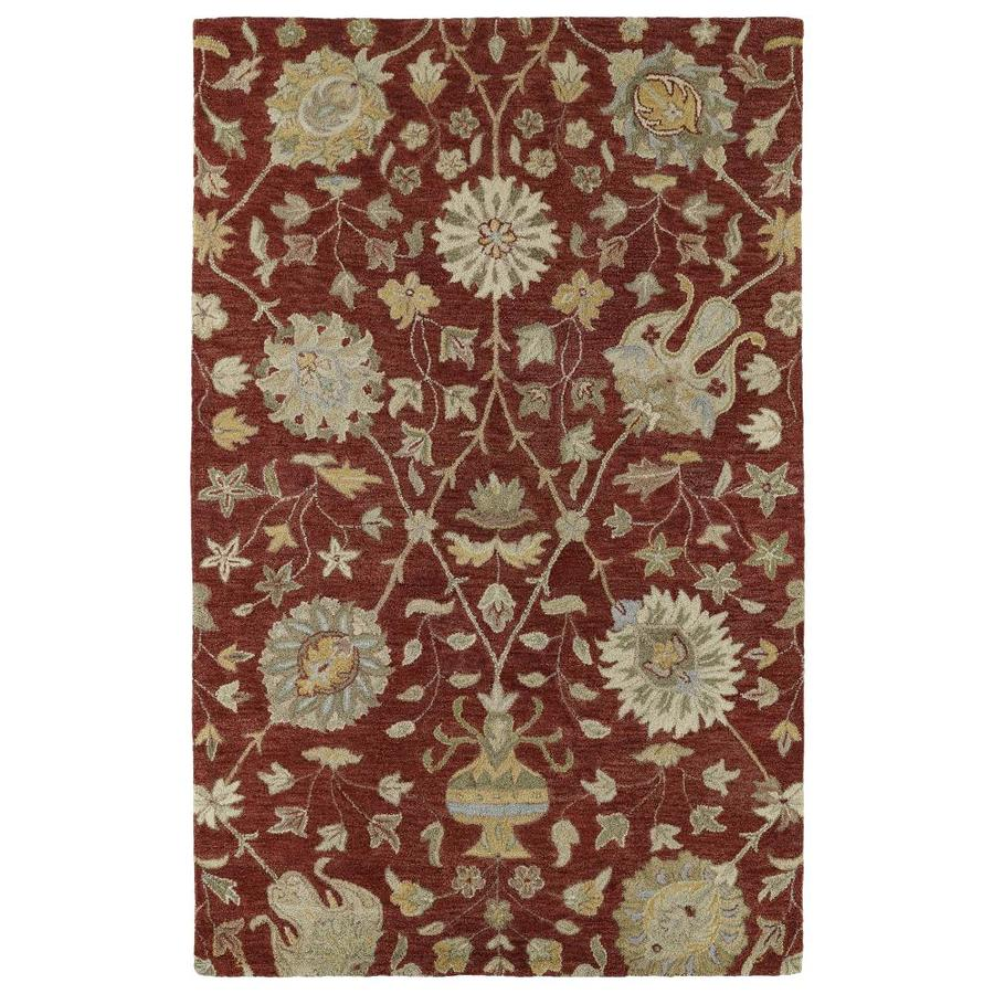 Kaleen Helena Red Rectangular Indoor Handcrafted Southwestern Area Rug (Common: 5 x 8; Actual: 5-ft W x 8-ft L)
