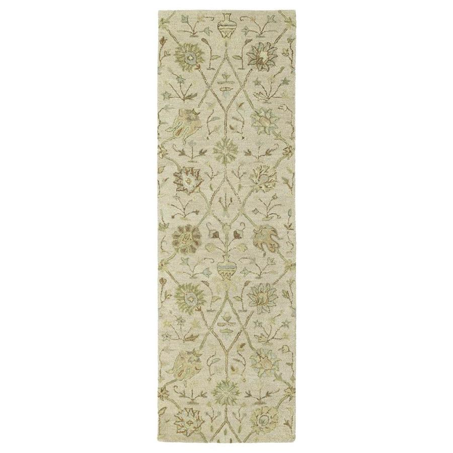 Kaleen Helena Ivory Indoor Handcrafted Southwestern Runner (Common: 3 X 8; Actual: 2.5-ft W x 8-ft L)