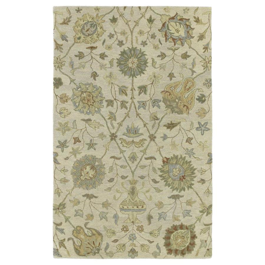 Kaleen Helena Ivory Rectangular Indoor Handcrafted Nature Area Rug (Common: 5 x 7; Actual: 5-ft W x 7.75-ft L)