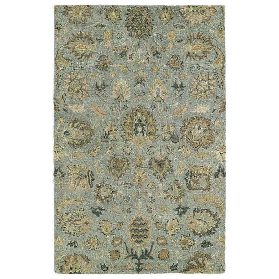 Kaleen Helena Spa Rectangular Indoor Handcrafted Nature Area Rug (Common: 5 x 7; Actual: 5-ft W x 7.75-ft L)