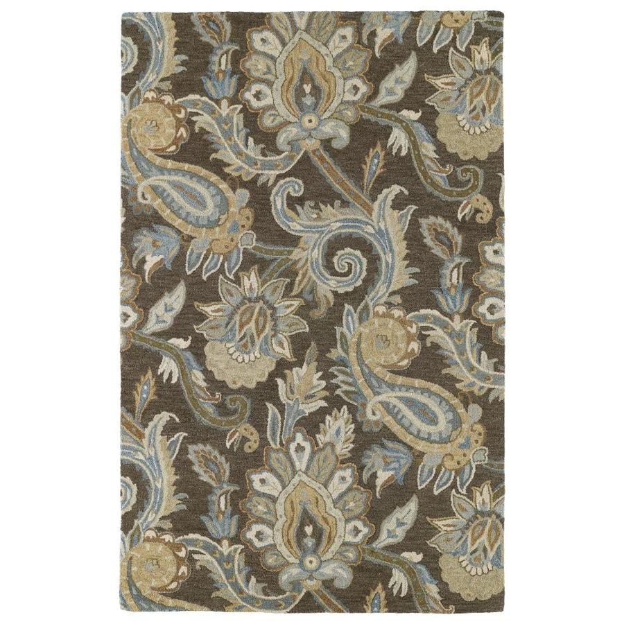 Kaleen Helena Brown Indoor Handcrafted Southwestern Area Rug (Common: 9 x 12; Actual: 9-ft W x 12-ft L)
