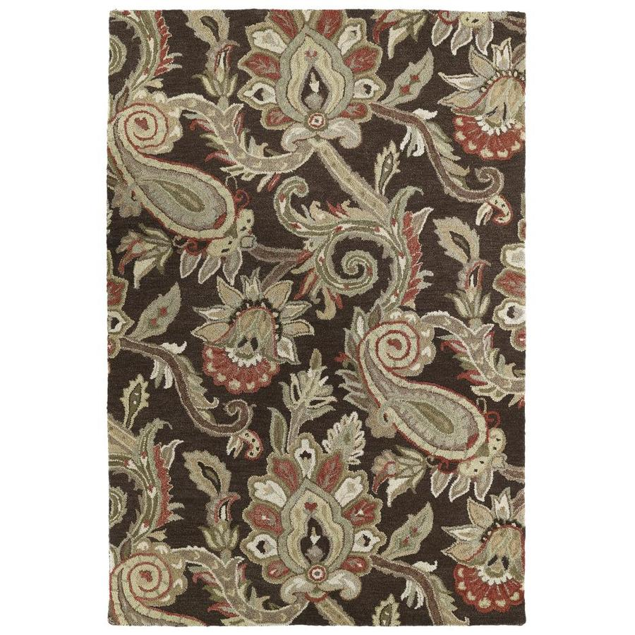 Kaleen Helena Chocolate Indoor Handcrafted Southwestern Area Rug (Common: 9 x 12; Actual: 9-ft W x 12-ft L)