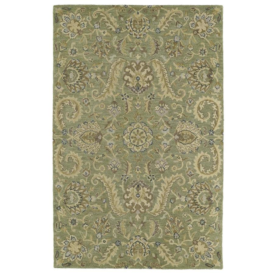 Kaleen Helena Green Rectangular Indoor Tufted Oriental Area Rug (Common: 5 x 8; Actual: 60-in W x 93-in L)