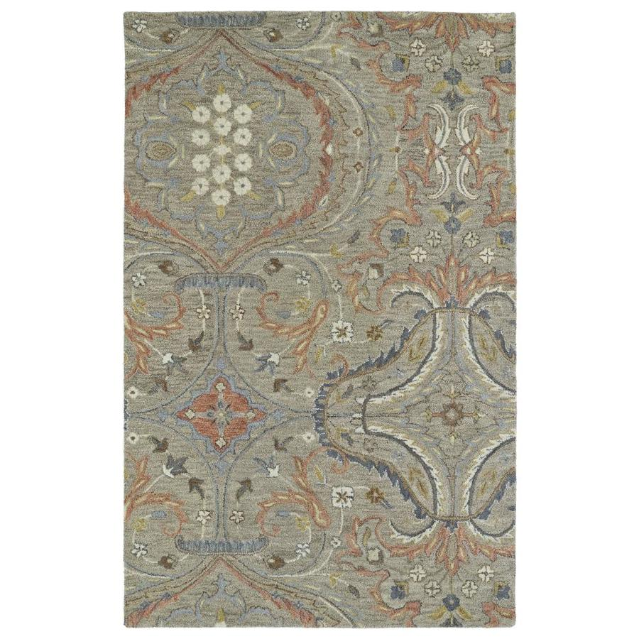 Kaleen Helena Taupe Rectangular Indoor Handcrafted Oriental Area Rug (Common: 8 x 10; Actual: 8-ft W x 10-ft L)