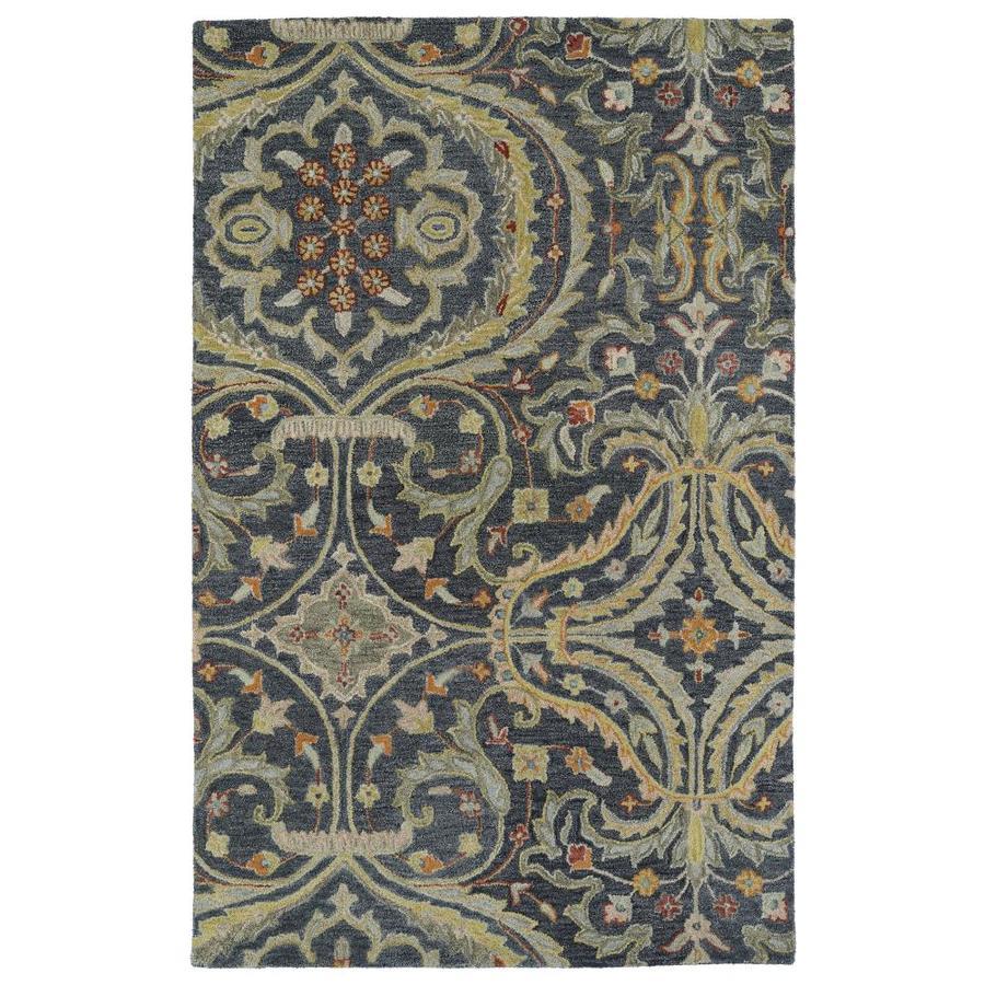 Kaleen Helena Pewter Rectangular Indoor Handcrafted Oriental Area Rug (Common: 4 x 6; Actual: 4-ft W x 6-ft L)