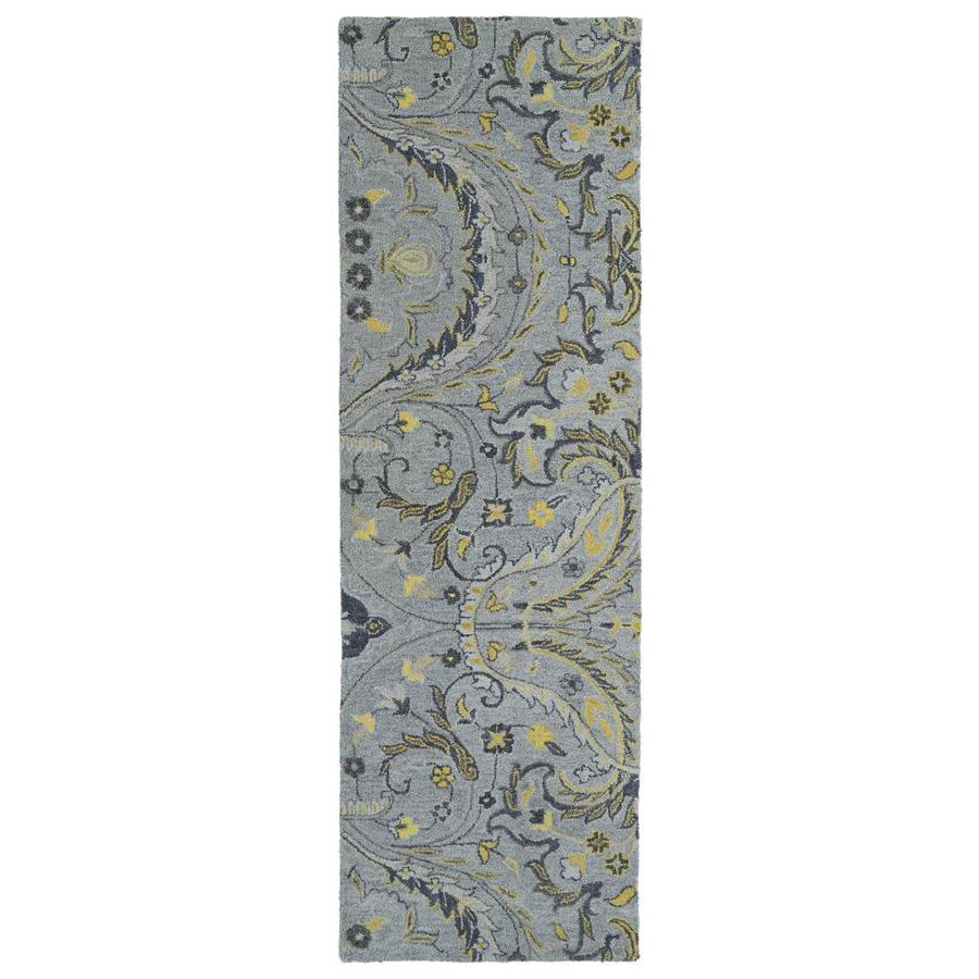 Kaleen Helena Grey Rectangular Indoor Handcrafted Oriental Runner (Common: 3 X 8; Actual: 2.5-ft W x 8-ft L)