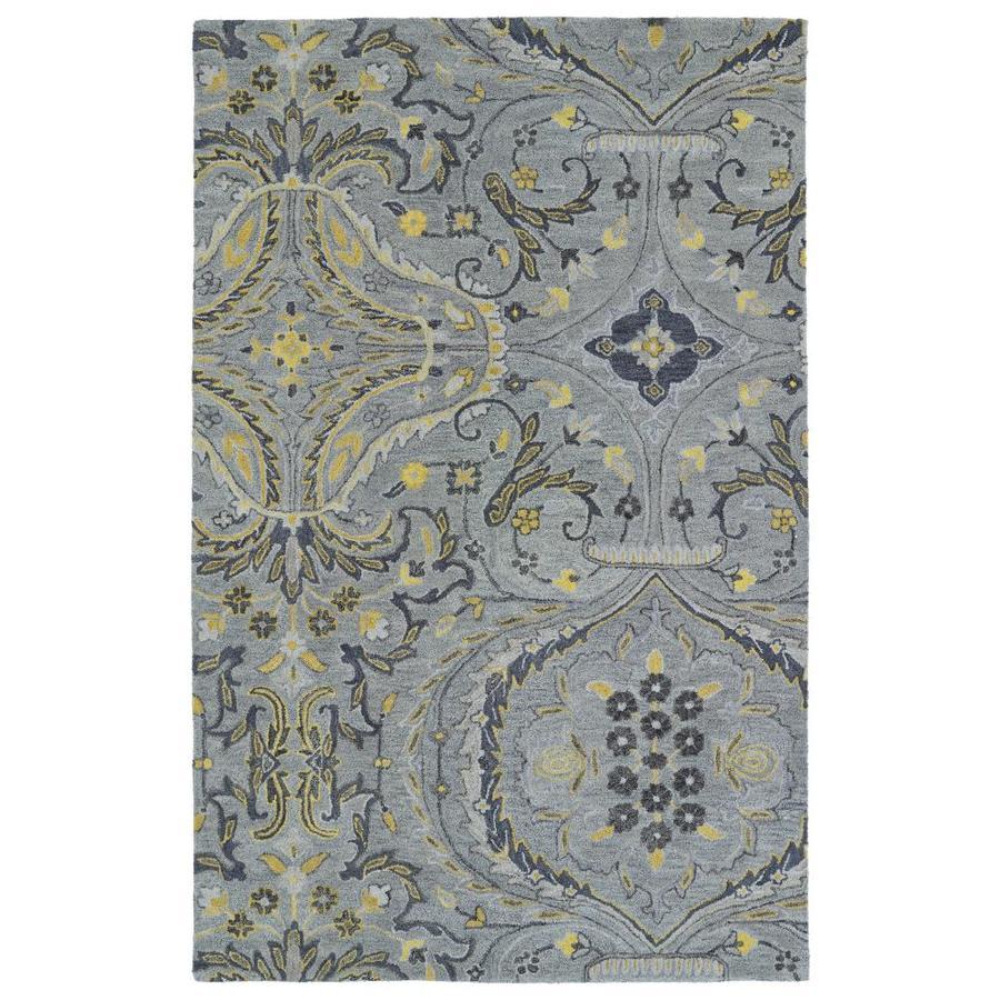 Kaleen Helena Grey Rectangular Indoor Handcrafted Oriental Area Rug (Common: 8 x 10; Actual: 8-ft W x 10-ft L)