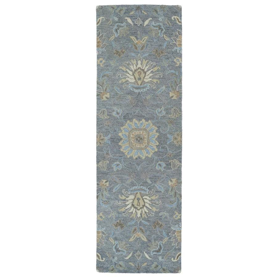 Kaleen Helena Graphite Indoor Handcrafted Oriental Runner (Common: 3 x 8; Actual: 2.5-ft W x 8-ft L)
