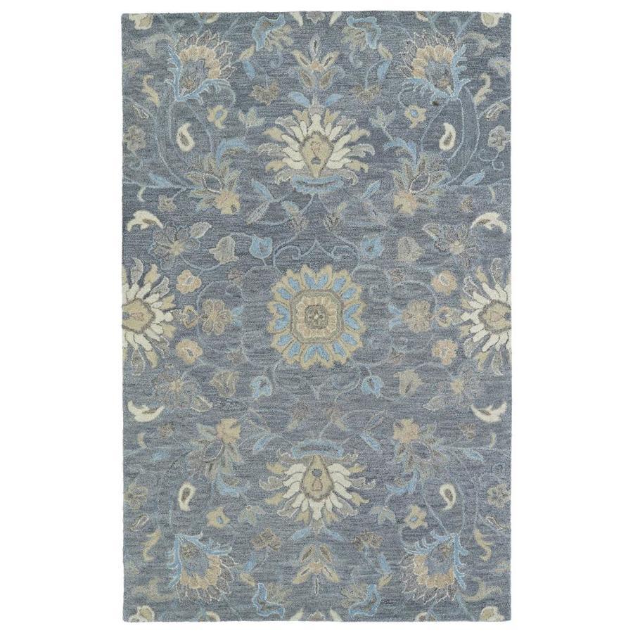 Kaleen Helena Graphite Indoor Handcrafted Oriental Area Rug (Common: 5 x 8; Actual: 5-ft W x 8-ft L)