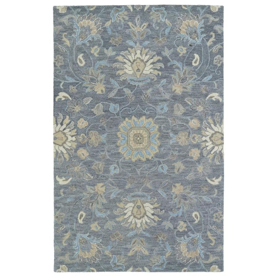 Kaleen Helena Graphite Rectangular Indoor Handcrafted Oriental Area Rug (Common: 8 x 10; Actual: 8-ft W x 10-ft L)