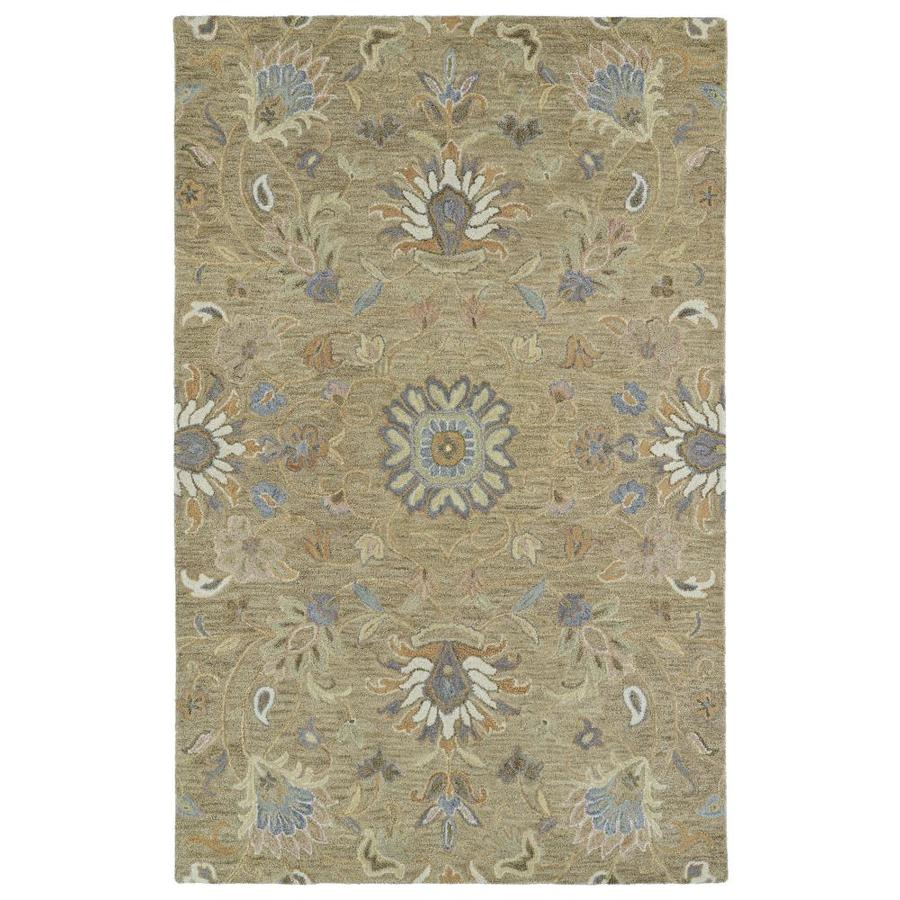 Kaleen Helena Light Brown Indoor Handcrafted Oriental Area Rug (Common: 5 x 8; Actual: 5-ft W x 8-ft L)