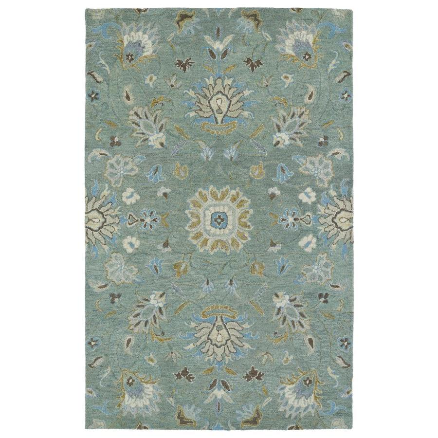 Kaleen Helena Mint Rectangular Indoor Handcrafted Oriental Area Rug (Common: 4 x 6; Actual: 4-ft W x 6-ft L)