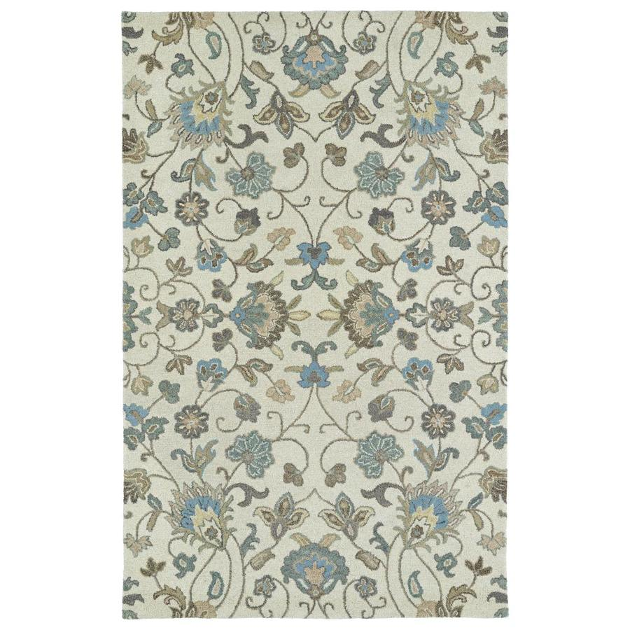 Kaleen Helena Beige Indoor Handcrafted Oriental Throw Rug (Common: 2 x 3; Actual: 2-ft W x 3-ft L)
