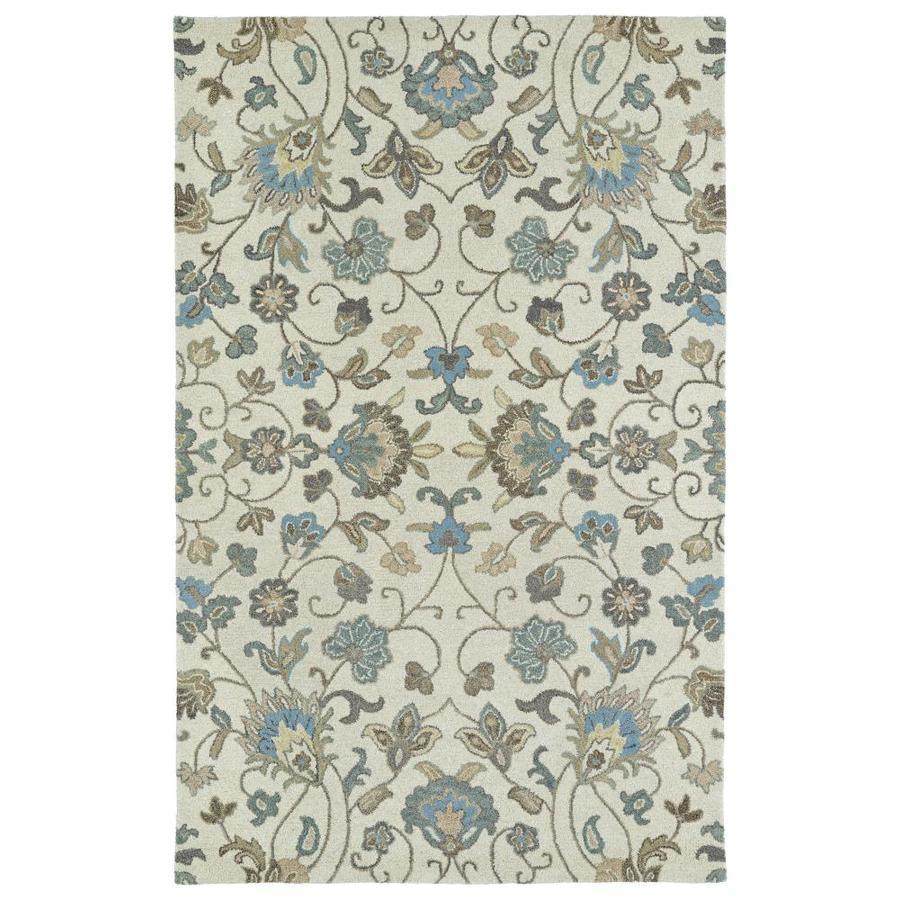 Kaleen Helena Beige Indoor Handcrafted Oriental Area Rug (Common: 5 x 8; Actual: 5-ft W x 8-ft L)