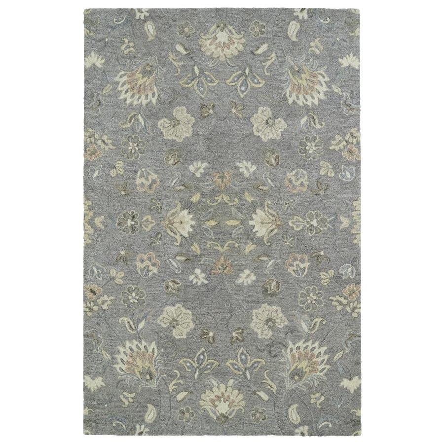 Kaleen Helena Grey Rectangular Indoor Handcrafted Oriental Area Rug (Common: 9 x 12; Actual: 9-ft W x 12-ft L)