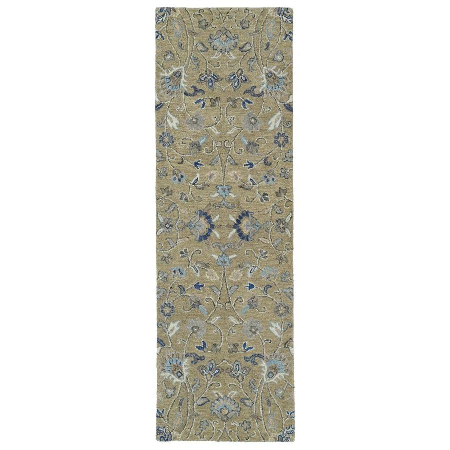 Kaleen Helena Light Brown Indoor Handcrafted Oriental Runner (Common: 3 x 8; Actual: 2.5-ft W x 8-ft L)