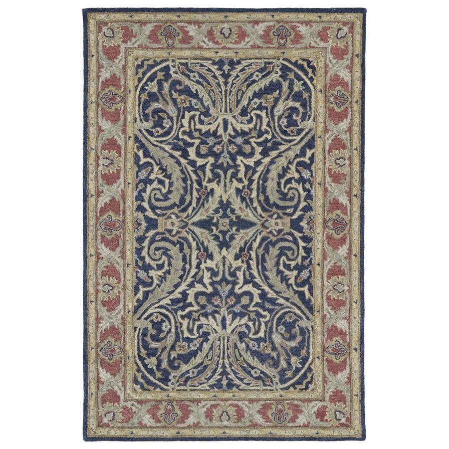 Kaleen Solomon Blue Indoor Handcrafted Oriental Area Rug (Common: 4 x 6; Actual: 4-ft W x 6-ft L)