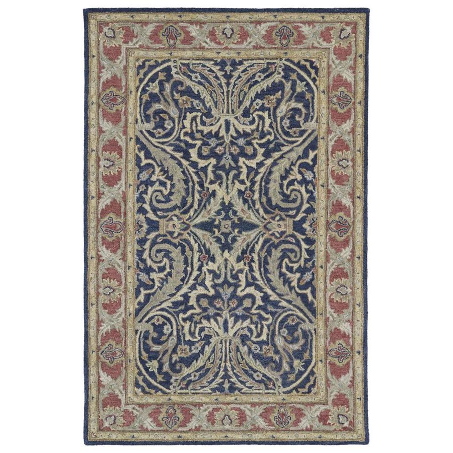 Kaleen Solomon Blue Indoor Handcrafted Oriental Area Rug (Common: 8 x 10; Actual: 8-ft W x 10-ft L)