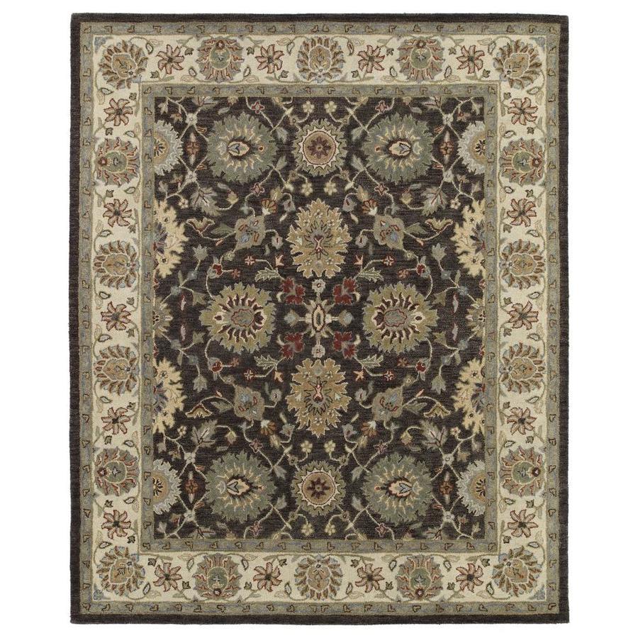 Kaleen Solomon Brown Rectangular Indoor Handcrafted Oriental Area Rug (Common: 5 x 8; Actual: 5-ft W x 7.75-ft L)
