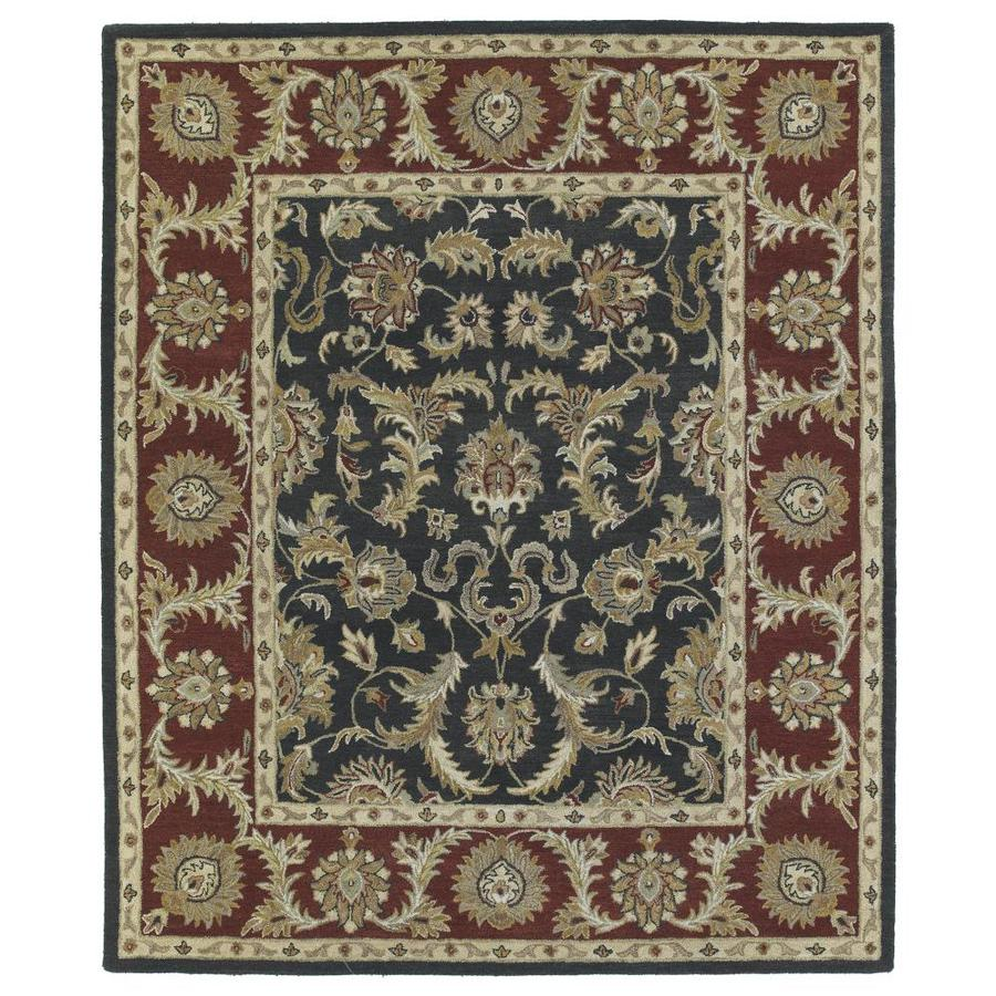 Kaleen Solomon Graphite Indoor Handcrafted Oriental Runner (Common: 3 x 8; Actual: 2.5-ft W x 8-ft L)