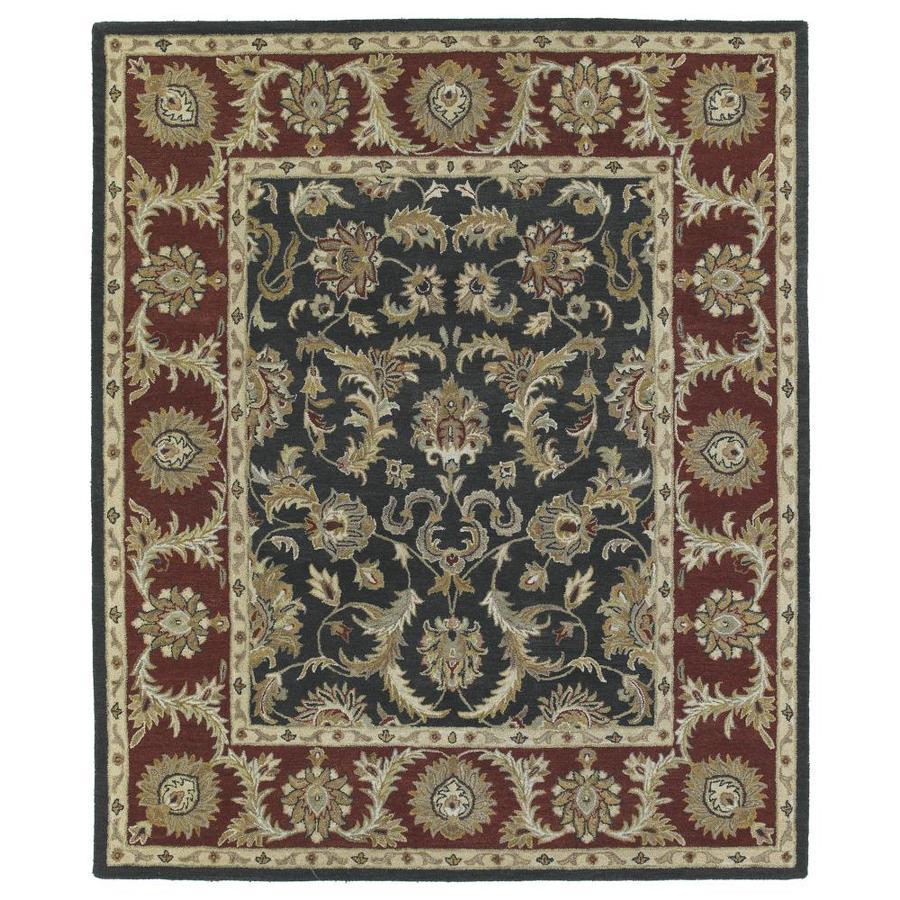 Kaleen Solomon Graphite Indoor Handcrafted Oriental Area Rug (Common: 5 x 8; Actual: 5-ft W x 7.75-ft L)