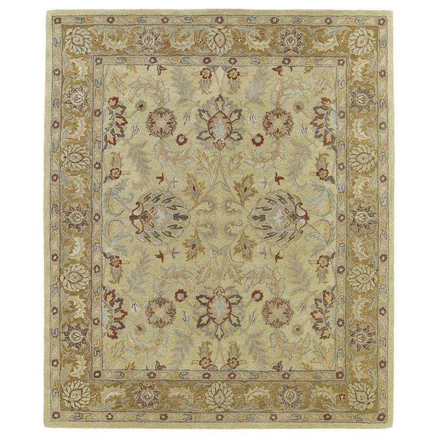 Kaleen Solomon Gold Rectangular Indoor Handcrafted Oriental Area Rug (Common: 9 x 12; Actual: 9-ft W x 12-ft L)