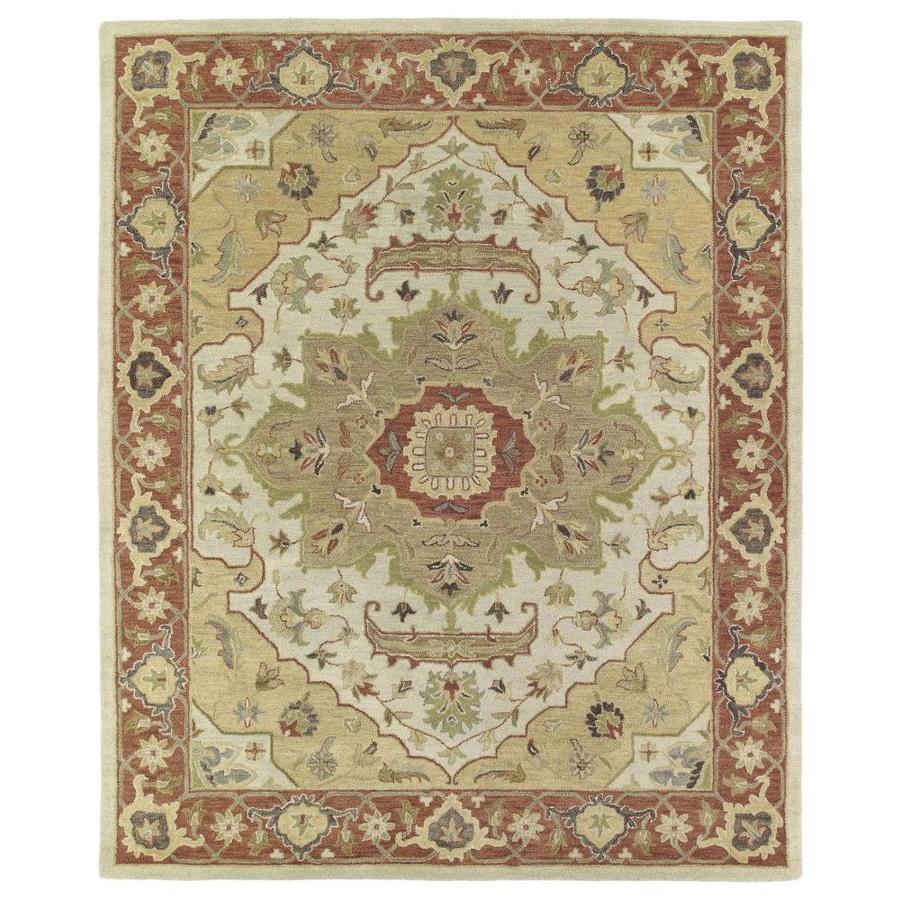 Kaleen Solomon Gold 10-ft x 14-ft Area Rug