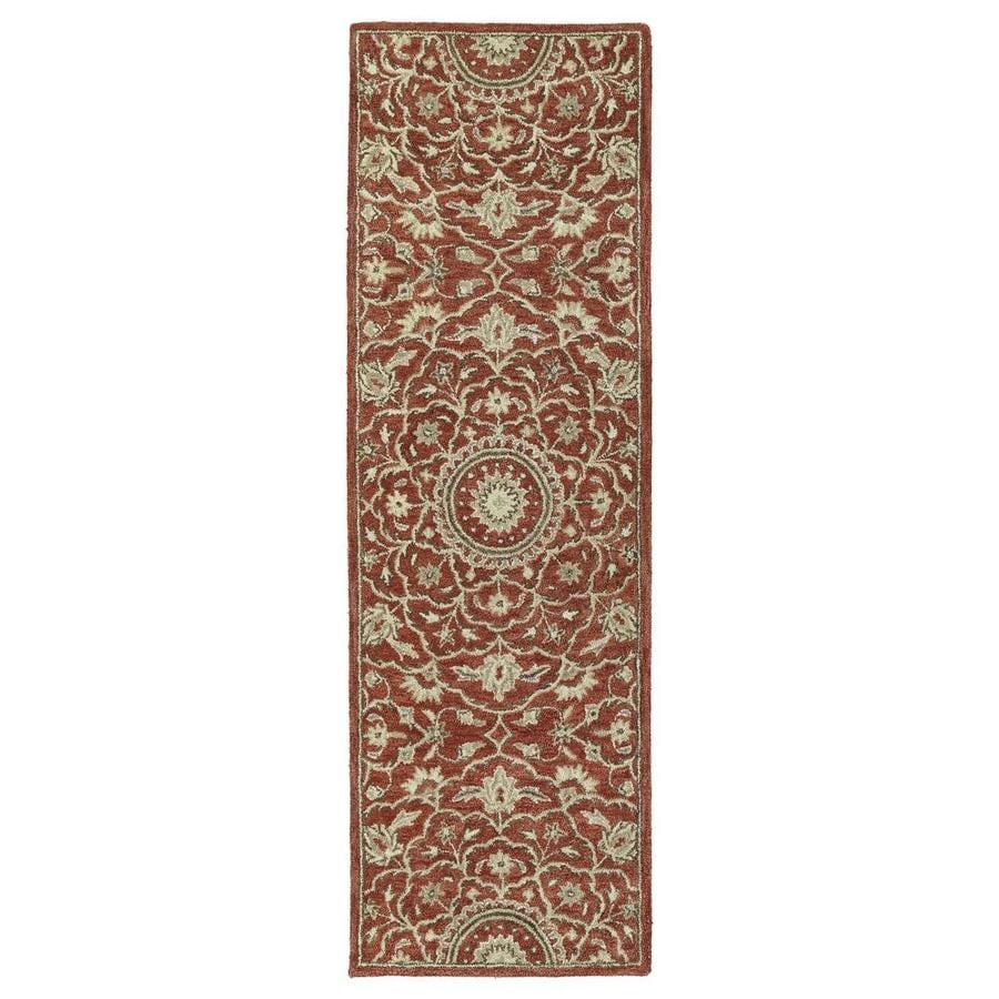 Kaleen Solomon Red Indoor Handcrafted Oriental Runner (Common: 3 x 8; Actual: 2.5-ft W x 8-ft L)