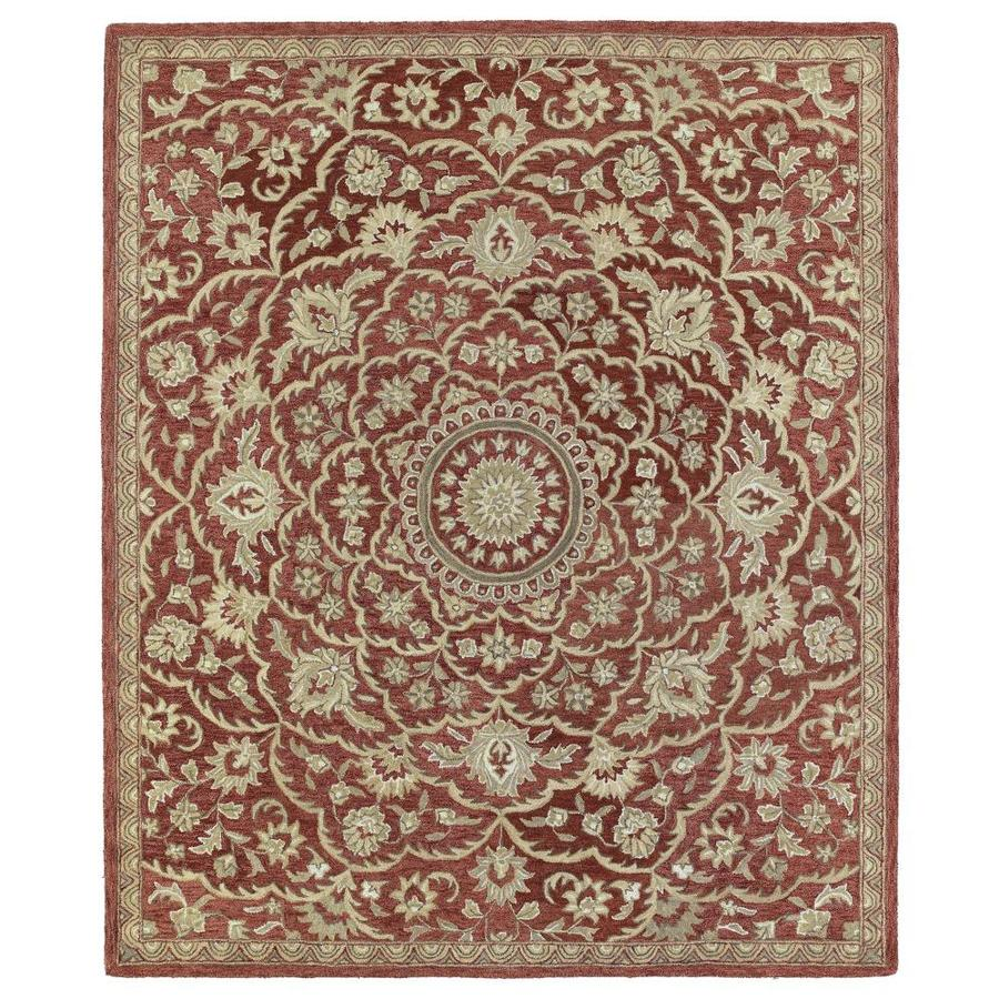 Kaleen Solomon Red Rectangular Indoor Handcrafted Oriental Area Rug (Common: 4 X 6; Actual: 4-ft W x 6-ft L)