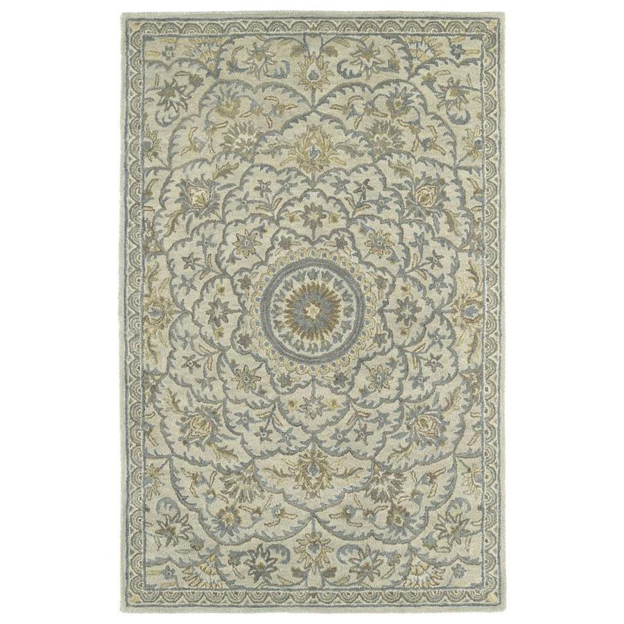 Kaleen Solomon Ivory Rectangular Indoor Handcrafted Oriental Area Rug (Common: 5 x 8; Actual: 5-ft W x 7.75-ft L)