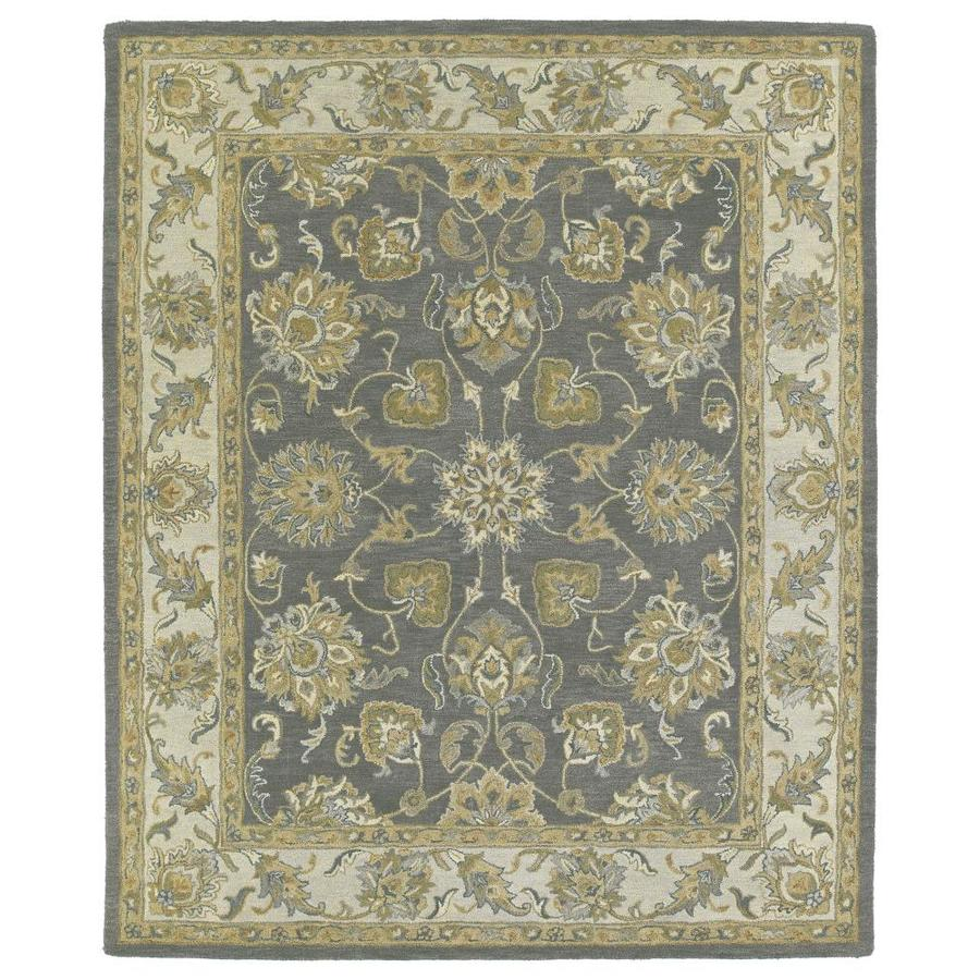 Kaleen Solomon Pewter Rectangular Indoor Handcrafted Oriental Throw Rug (Common: 2 x 3; Actual: 2-ft W x 3-ft L)