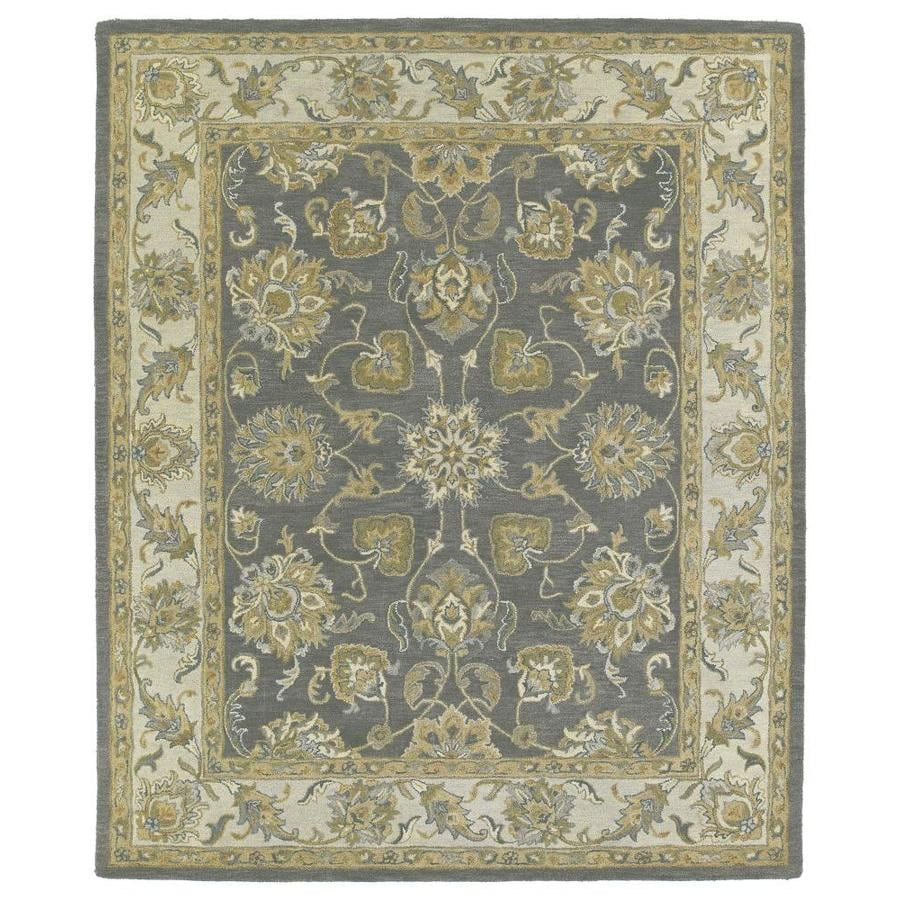 Kaleen Solomon Pewter Rectangular Indoor Handcrafted Oriental Area Rug (Common: 10 x 14; Actual: 10-ft W x 14-ft L)