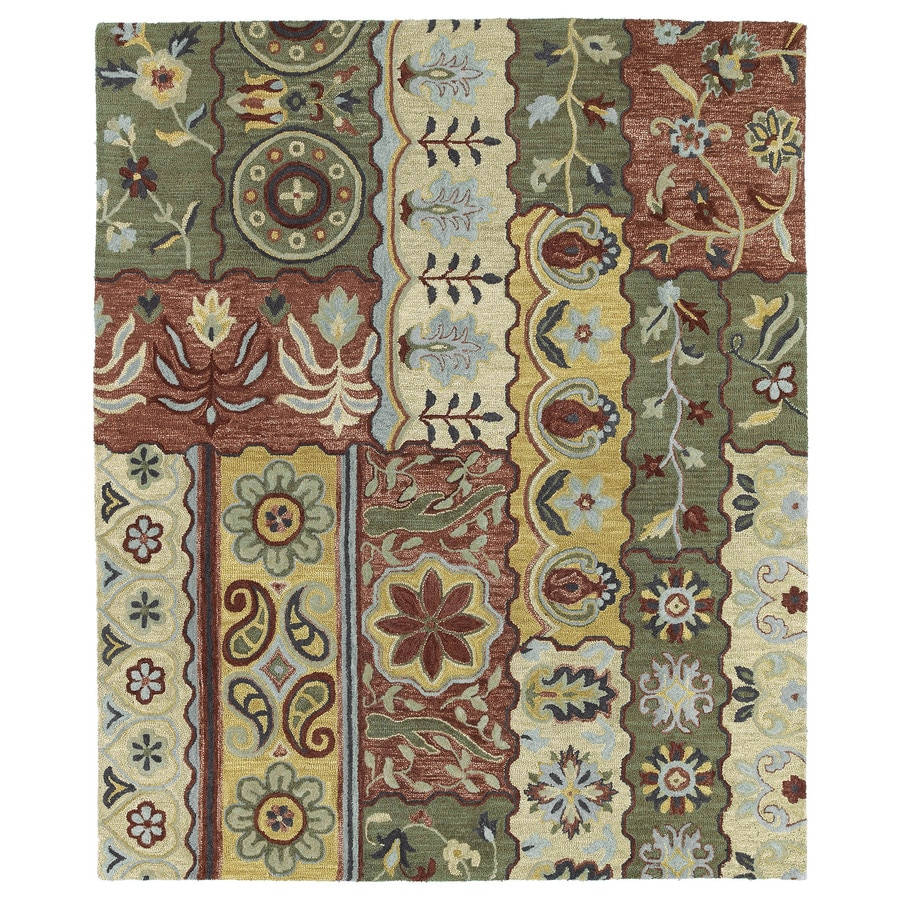 Kaleen Brooklyn Gold Rectangular Indoor Handcrafted Novelty Area Rug (Common: 9 x 12; Actual: 9.5-ft W x 13-ft L)