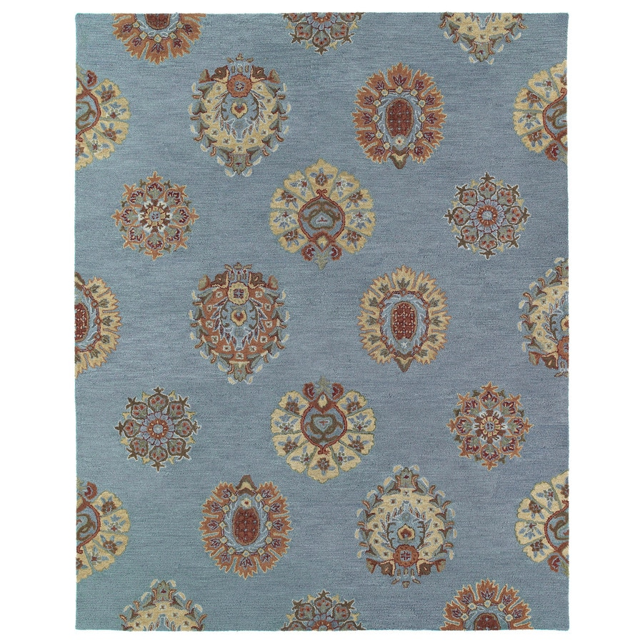 Kaleen Brooklyn Spa Rectangular Indoor Handcrafted Oriental Area Rug (Common: 8X11; Actual: 8-ft W x 11-ft L)