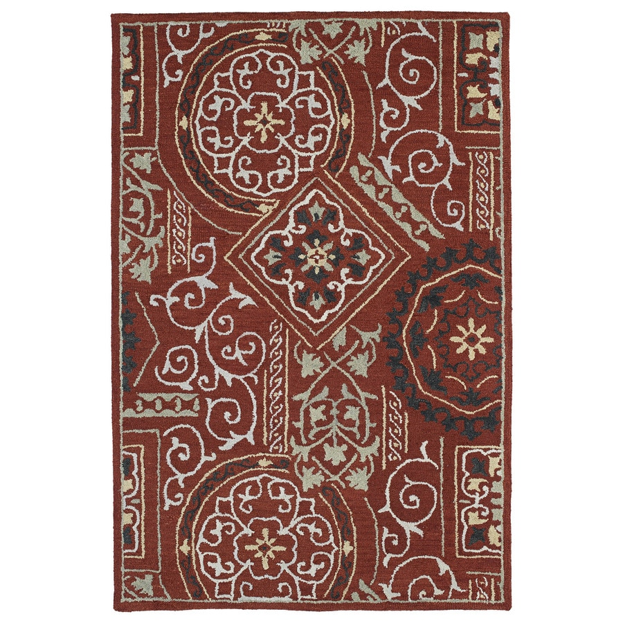 Kaleen Brooklyn Red Rectangular Indoor Handcrafted Novelty Area Rug (Common: 9 x 12; Actual: 9.5-ft W x 13-ft L)