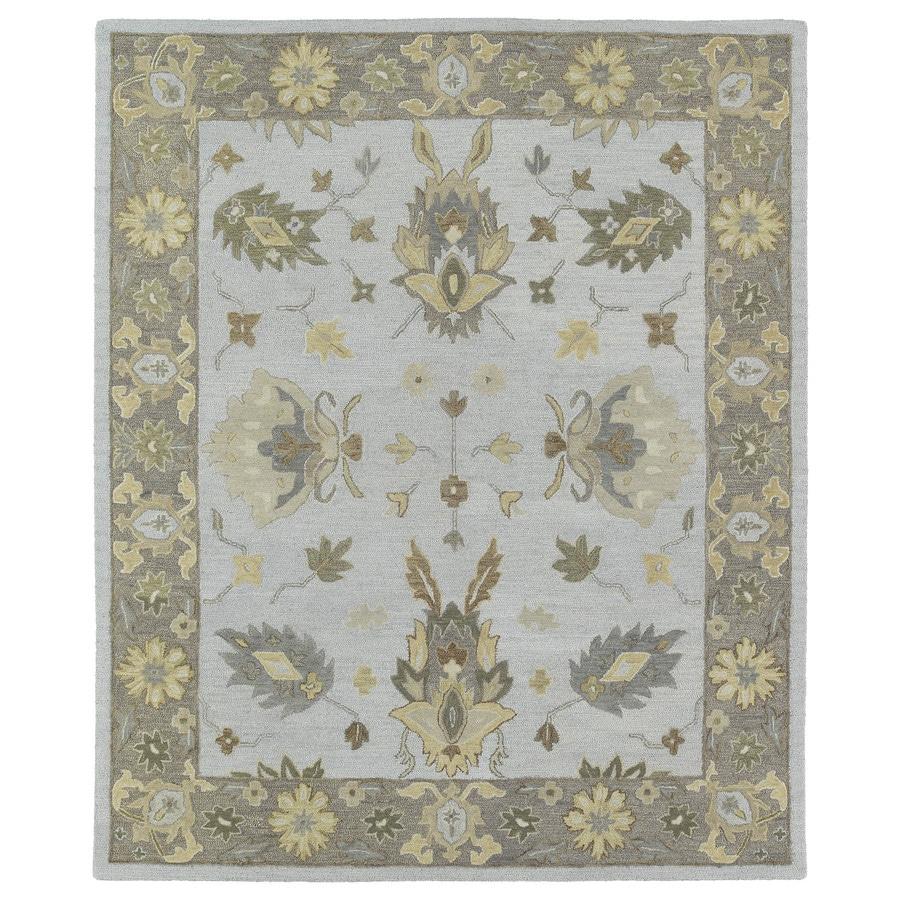Kaleen Brooklyn Silver Rectangular Indoor Hand-Hooked Oriental Area Rug (Common: 8 x 9; Actual: 90-in W x 108-in L)