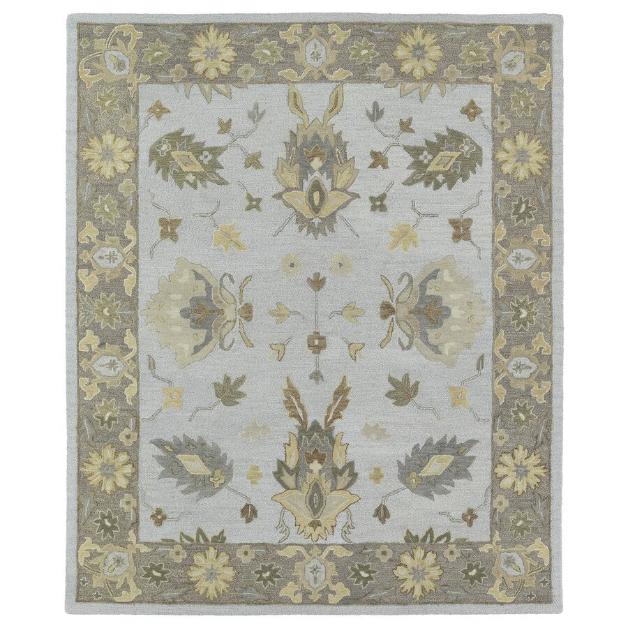 Kaleen Brooklyn Silver Rectangular Indoor Handcrafted Oriental Area Rug (Common: 8 x 12; Actual: 8-ft W x 11-ft L)