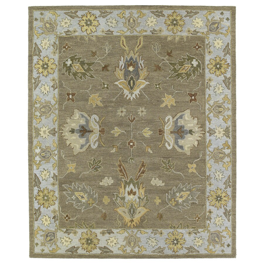 Kaleen Brooklyn Mocha Rectangular Indoor Handcrafted Oriental Area Rug (Common: 8 x 10; Actual: 7.5-ft W x 9-ft L)