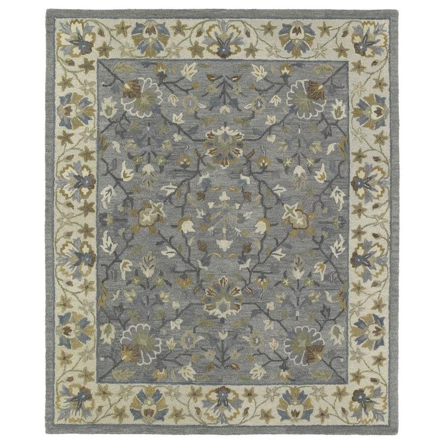 Kaleen Brooklyn Pewter 2-ft x 3-ft Throw Rug