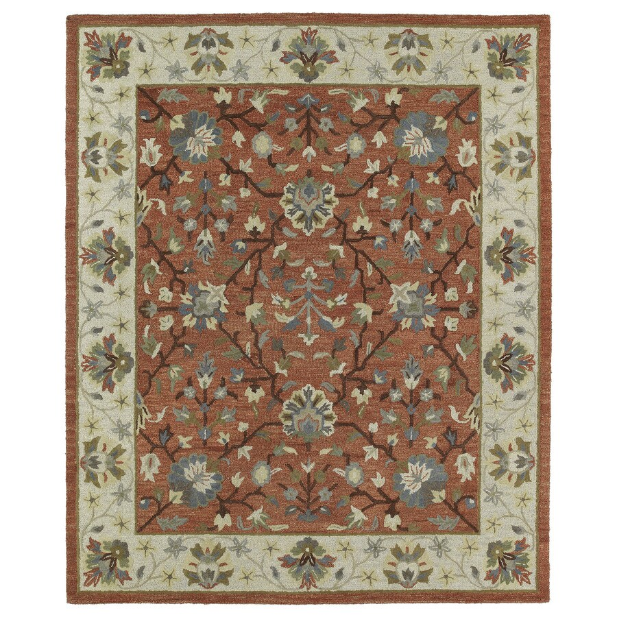 Kaleen Brooklyn Brick Rectangular Indoor Handcrafted Oriental Area Rug (Common: 9 x 12; Actual: 9.5-ft W x 13-ft L)