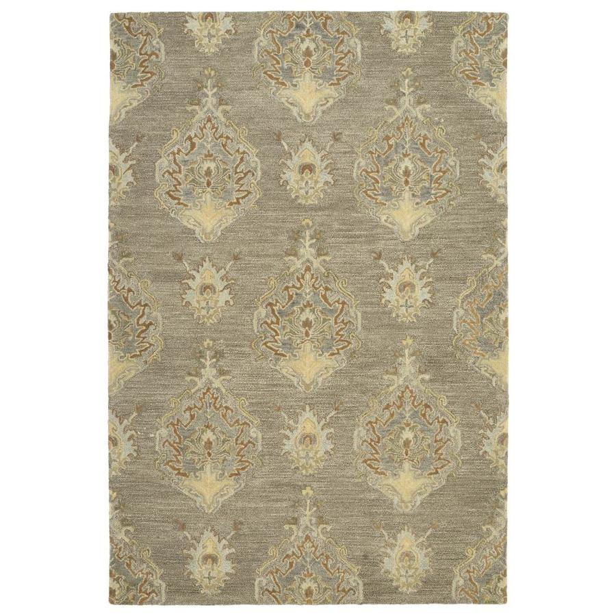 Kaleen Brooklyn Taupe Indoor Handcrafted Oriental Area Rug (Common: 5 x 8; Actual: 5-ft W x 7.5-ft L)