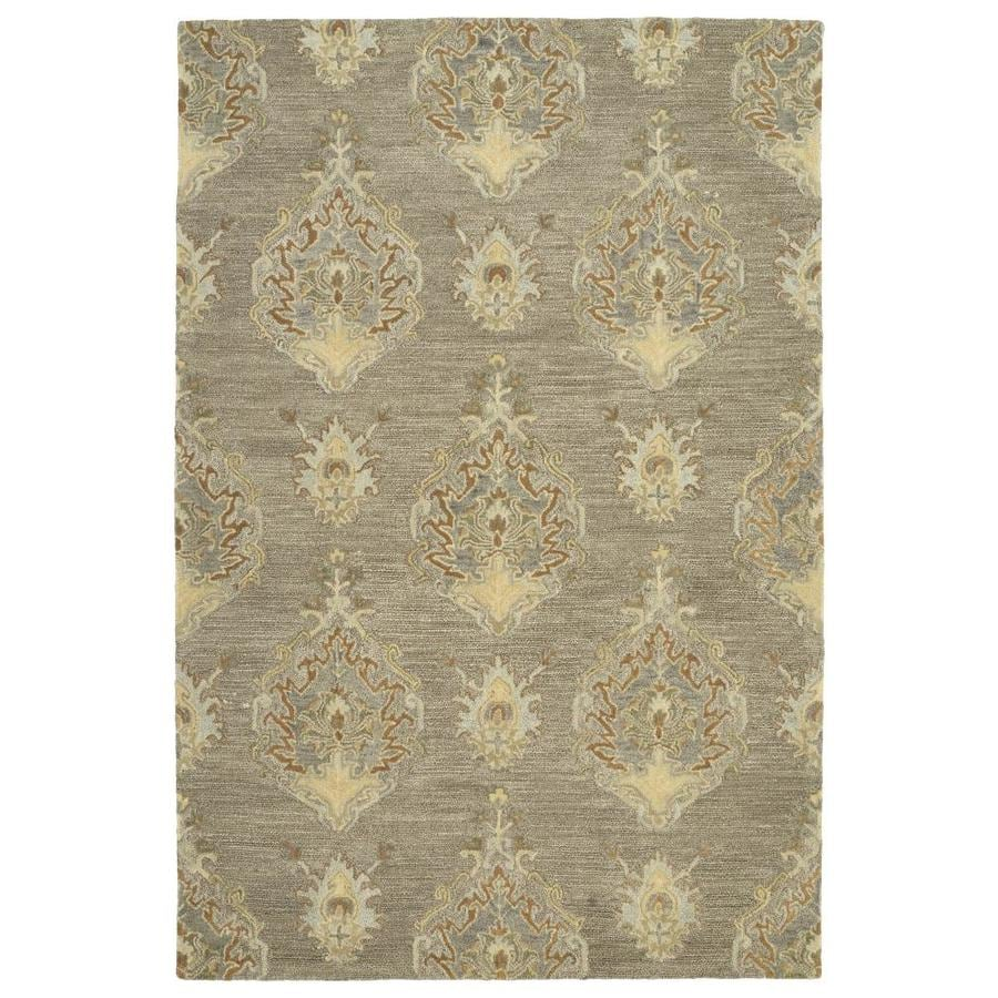 Kaleen Brooklyn Taupe Indoor Handcrafted Oriental Area Rug (Common: 8 x 9; Actual: 7.5-ft W x 9-ft L)