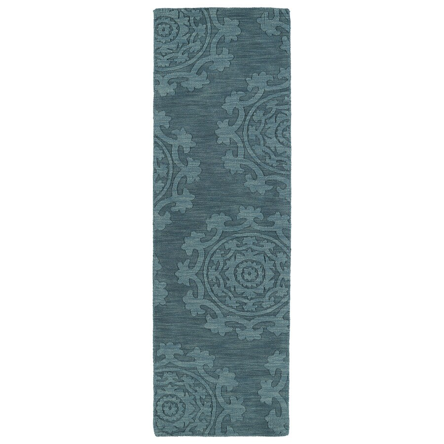 Kaleen Imprints Classic Turquoise Rectangular Indoor Handcrafted Southwestern Runner (Common: 2X8; Actual: 2.5-ft W x 8-ft L)
