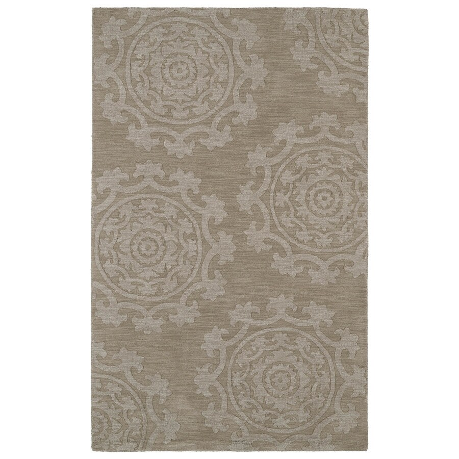 Kaleen Imprints Classic Light Brown Rectangular Indoor Handcrafted Southwestern Area Rug (Common: 4 x 6; Actual: 3.5-ft W x 5.5-ft L)