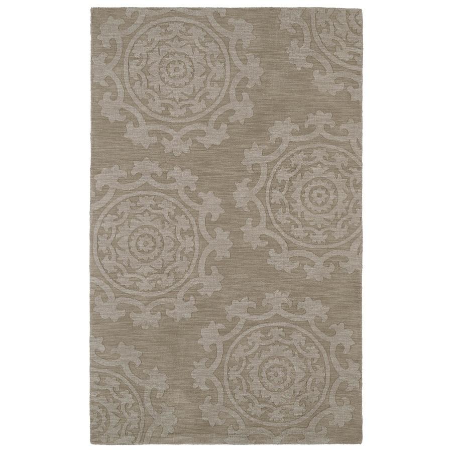 Kaleen Imprints Classic Light Brown Rectangular Indoor Handcrafted Southwestern Area Rug (Common: 5 x 7; Actual: 5-ft W x 8-ft L)