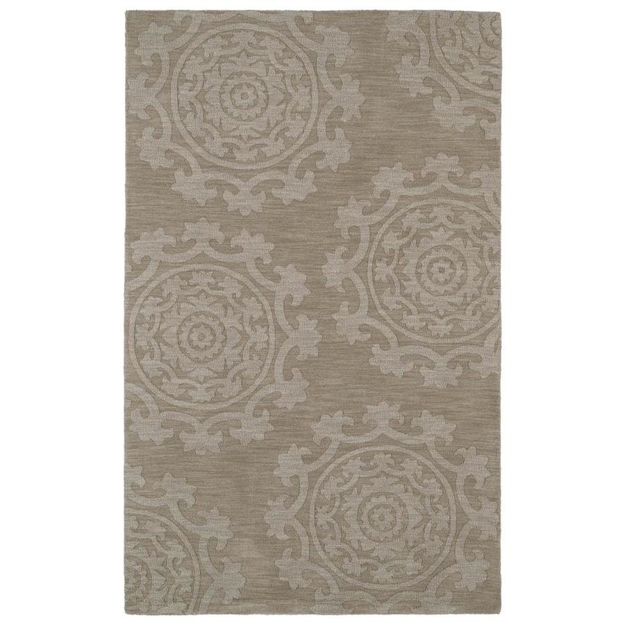 Kaleen Imprints Classic Light Brown Rectangular Indoor Handcrafted Southwestern Area Rug (Common: 10 x 14; Actual: 9.5-ft W x 13.5-ft L)